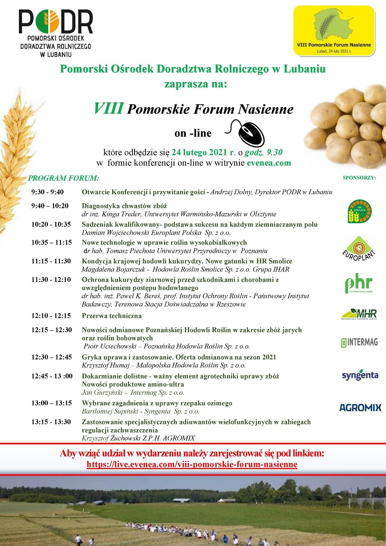 VIII Pomorskie Forum Nasienne - plakat
