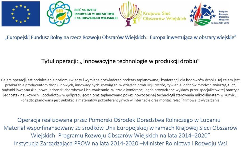 Innowacyjne technologie w produkcji drobiu - plakat