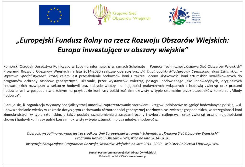 KSOW - VI Ogólnopolski Młodzieżowy Czempionat Koni Sztumskich
