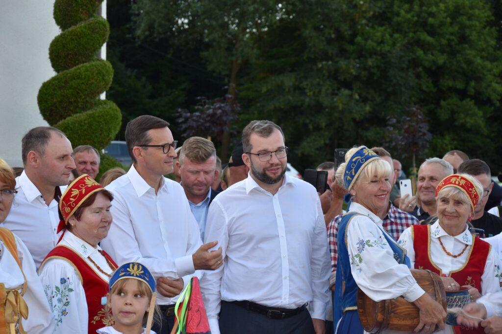 Premier Mateusz Morawiecki oraz Minister Rolnictwa Grzegorz Puda