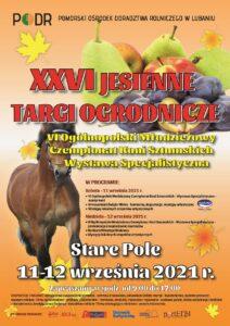 Plakat Jesienne Targi Ogrodnicze - Stare Pole 2021