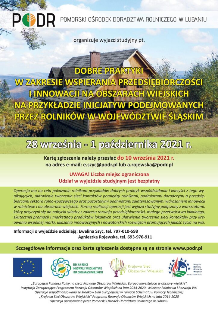 Plakat - Wyjazd do województwa dolnośląskiego