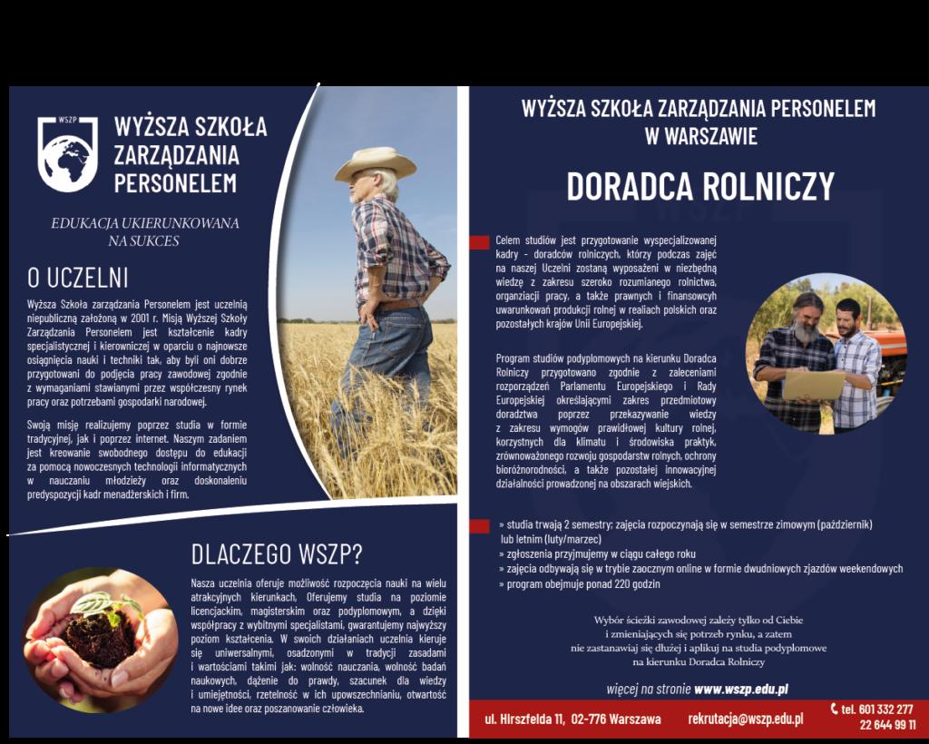 Rolnictwo - studia podyplomowe - informacja
