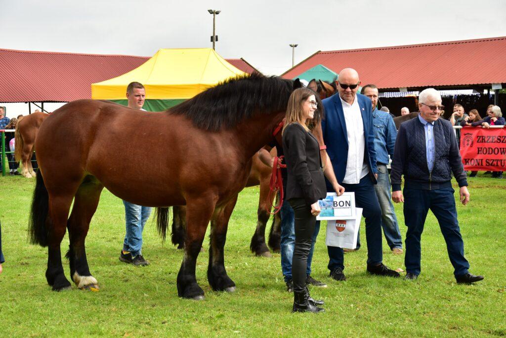 wręczanie nagród hodowcom koni
