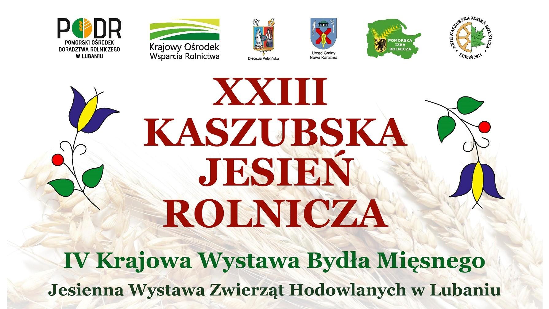 2021 Plakat - XXIII Kaszubska Jesień Rolnicza - miniatura