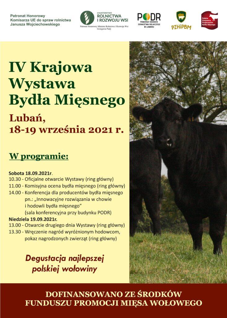 IV Krajowa Wystawa Bydła Mięsnego - plakat