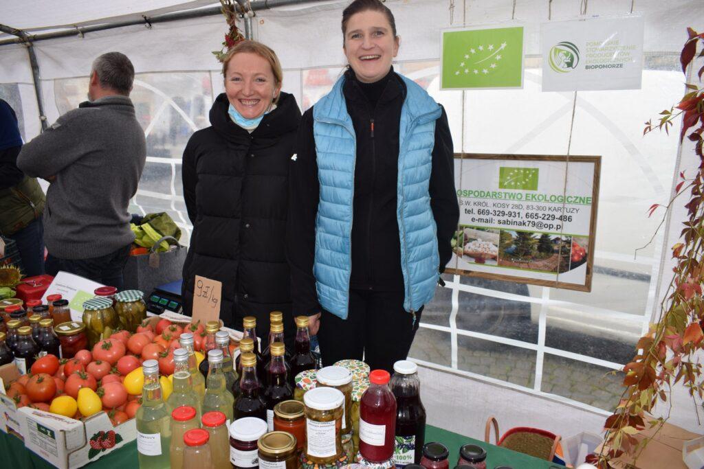 produceni ekologiczni- od lewej Jolanta Wattecamp i Sabina Król